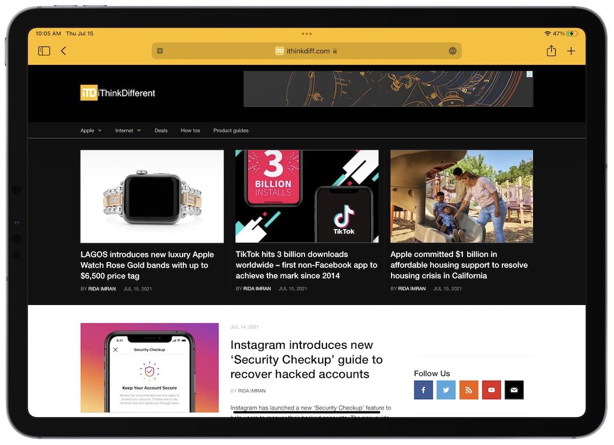 iPad 15 beta 3 Safari updates