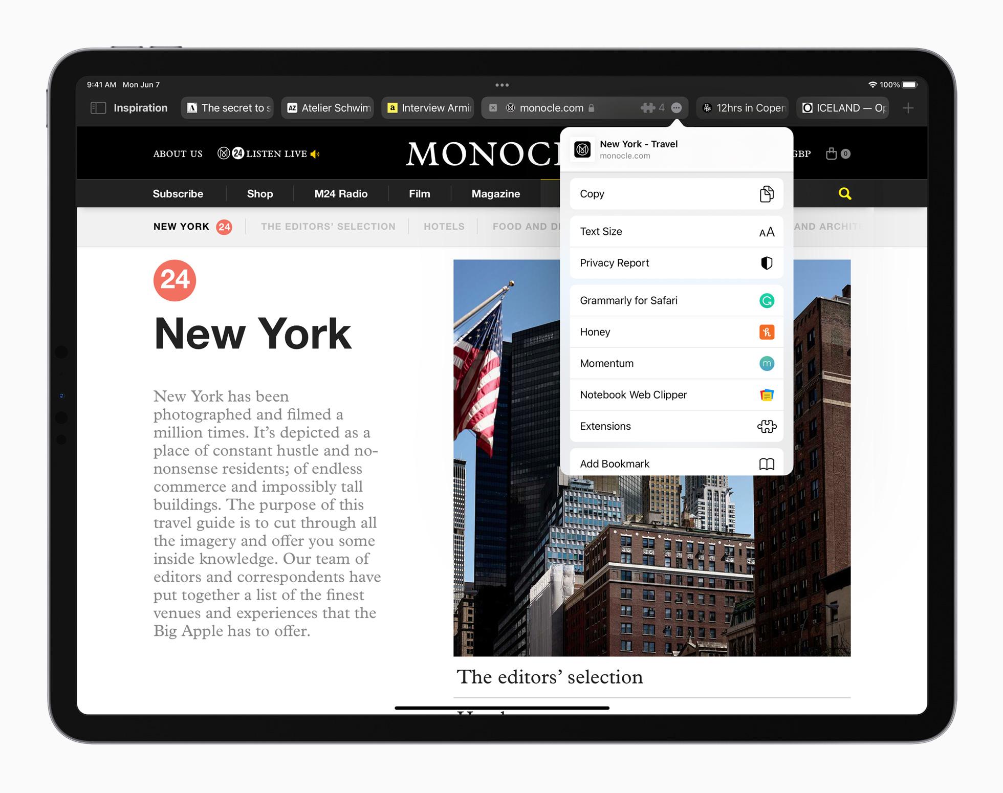 iPadOS 15 Safari