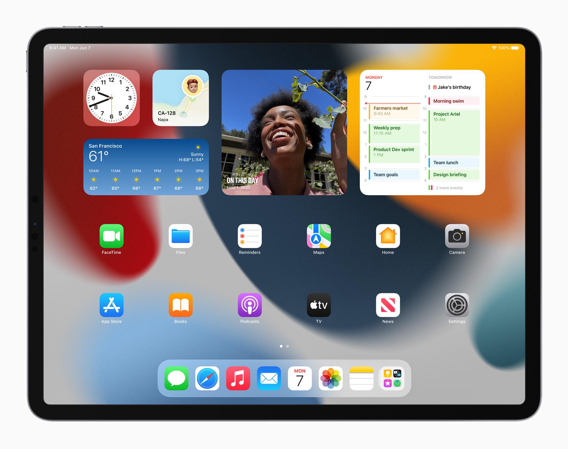 iPadOS 15 homescreen iPad