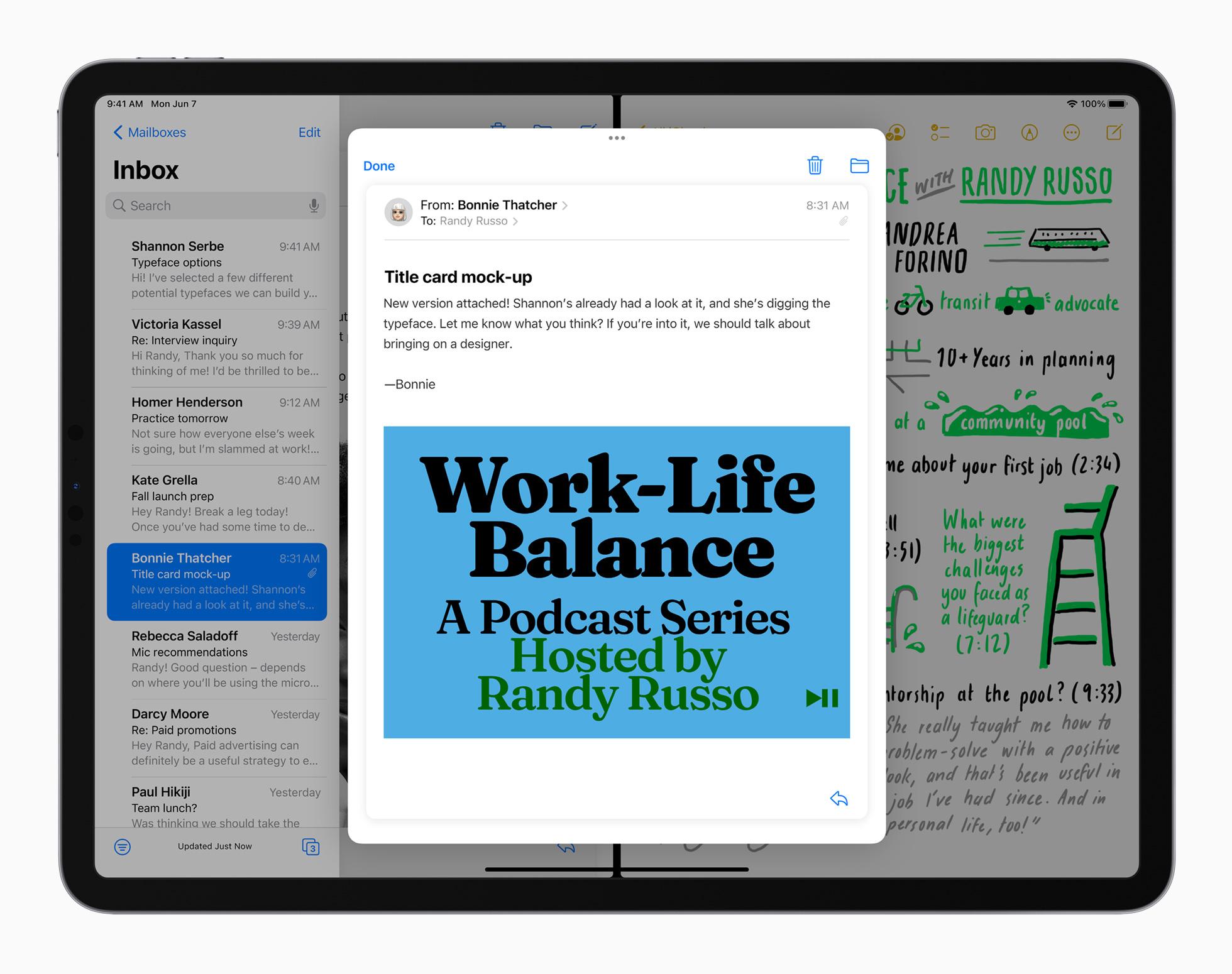 iPadOS 15 multitasking Split View