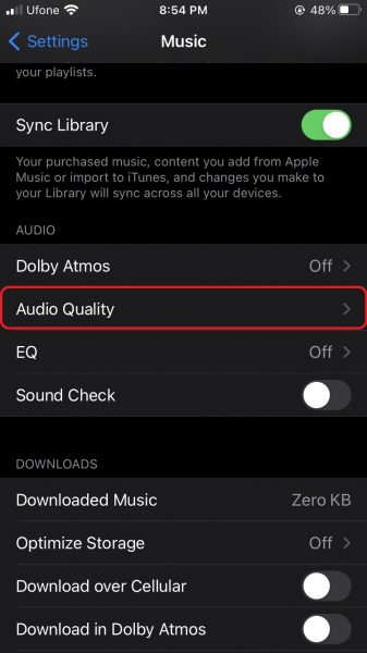 How to enable Apple Music Lossless Audio
