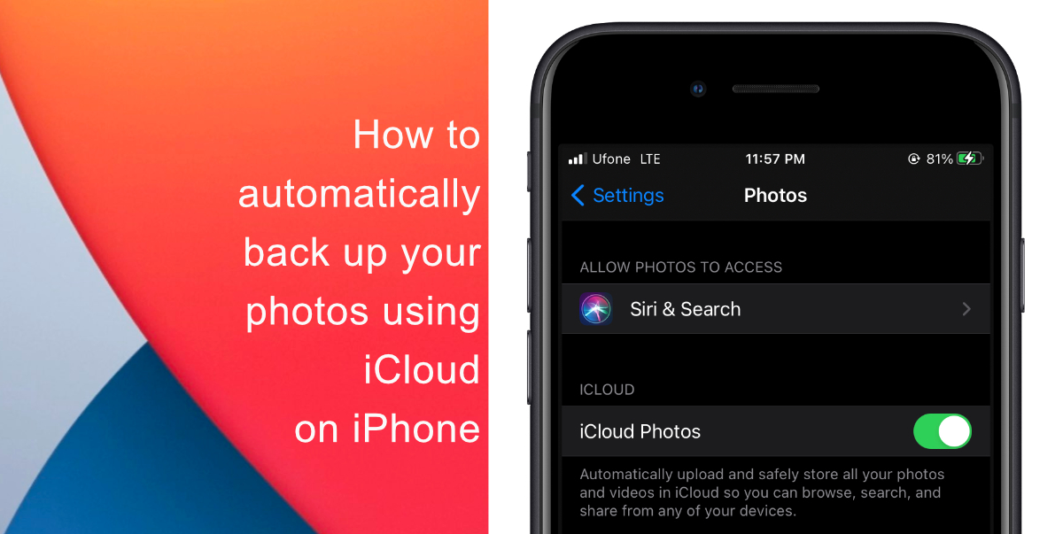 How to automatically back up your photos using iCloud on iPhone