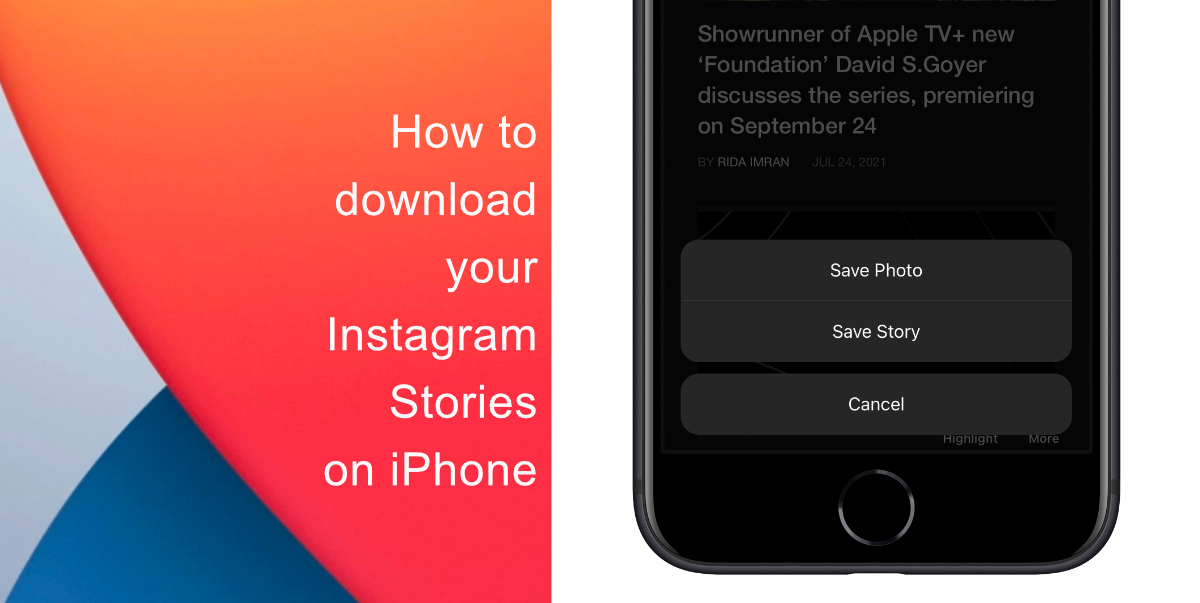 How to download your Instagram Stories on iPhone