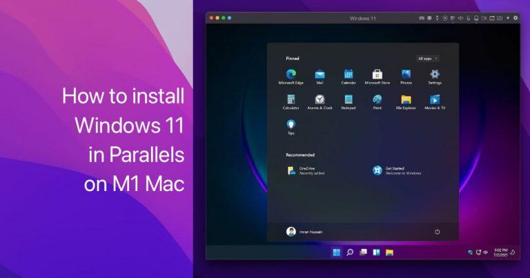 Install Windows 11 Parallels M1 Mac