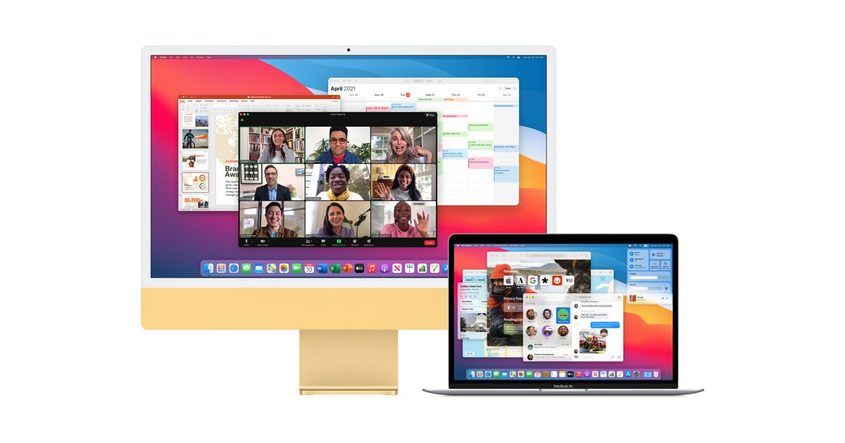 macOS Monterey allows users to use a second Mac as an external display via AirPlay