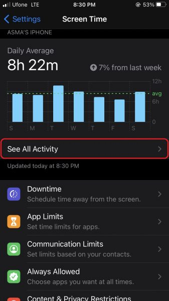 How to see most used apps on iPhone