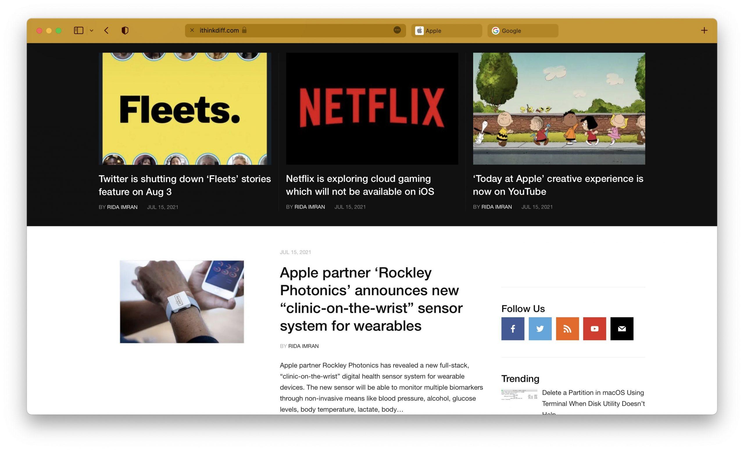 Safari macOS Monterey 3