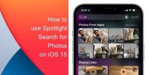 Spotlight search for Photos