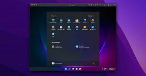 Windows 11 on ARM in Parallels Desktop on macOS Monterey