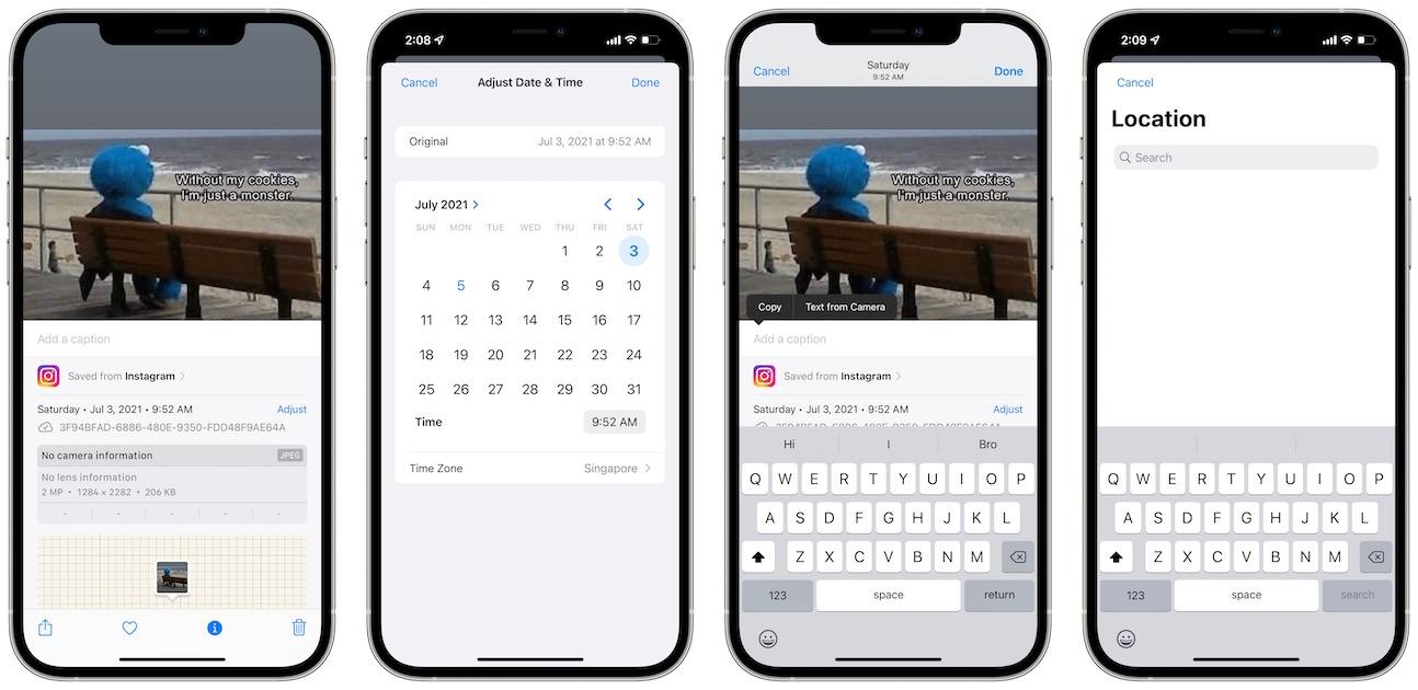 iOS 15 Photos data