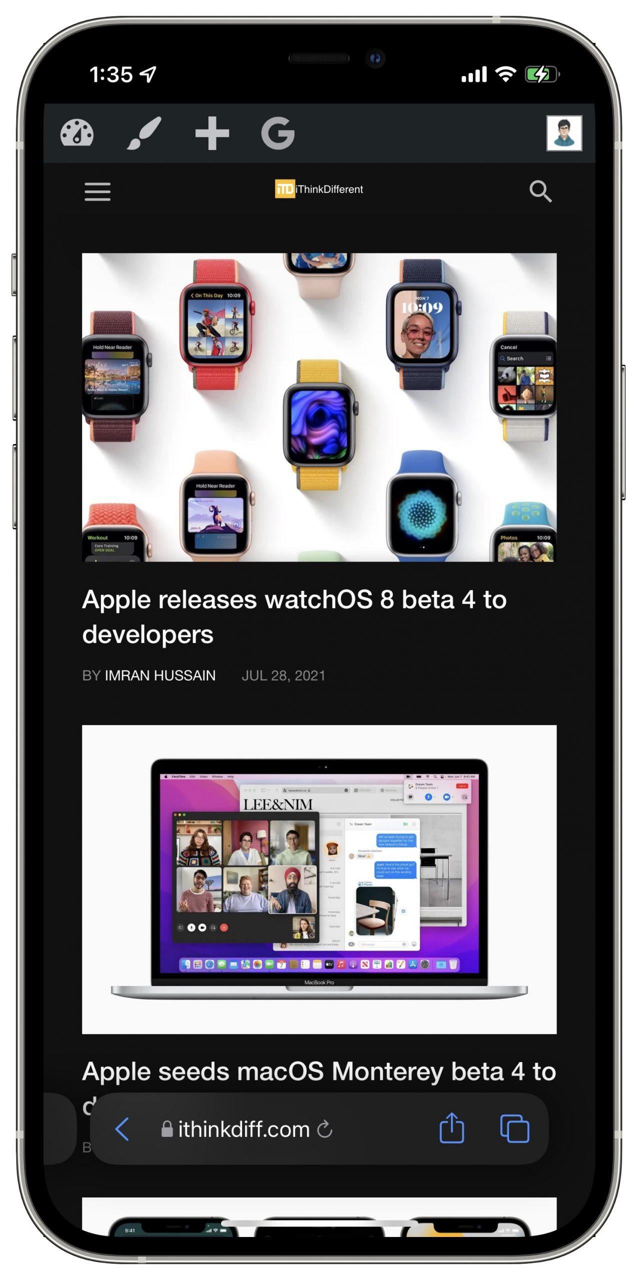 iOS 15 beta 4 Safari updates 2