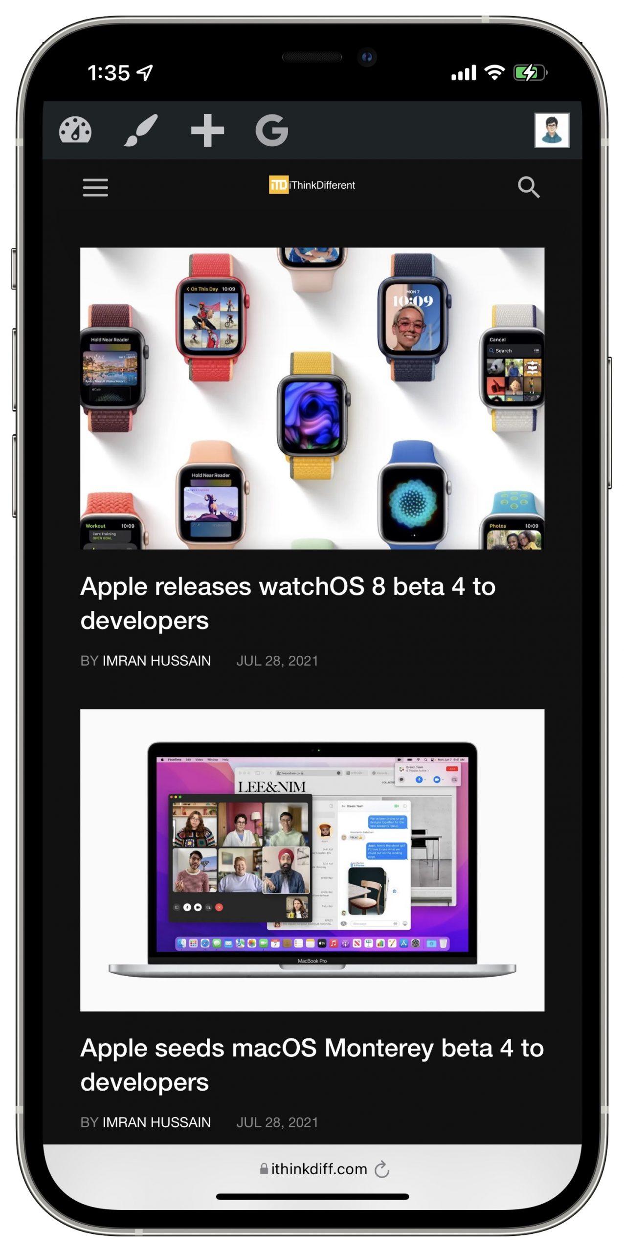 iOS 15 beta 4 Safari updates