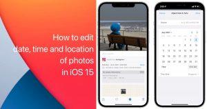 iOS 15 photos data update