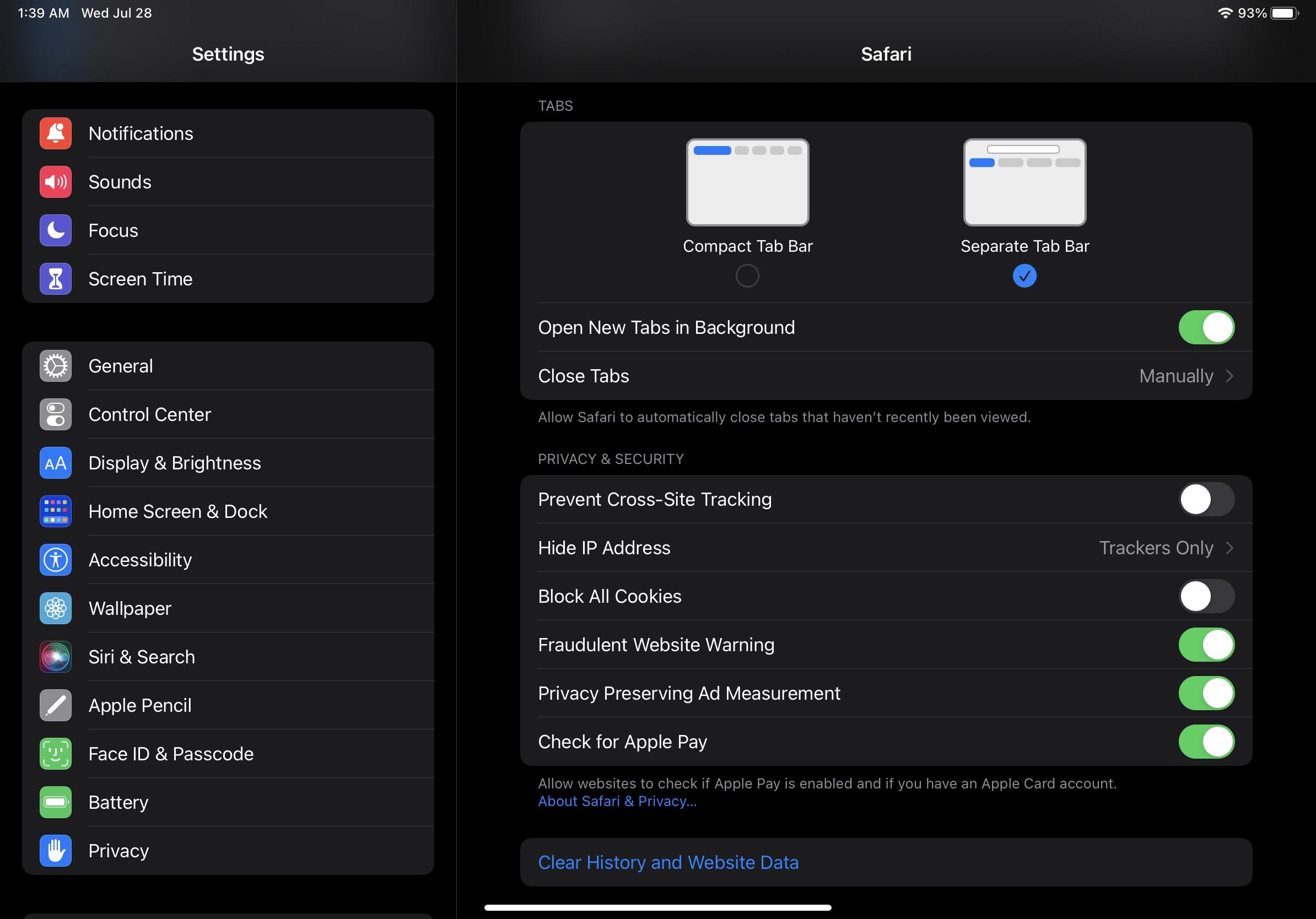 iPadOS 15 beta 4 Safari updates 2