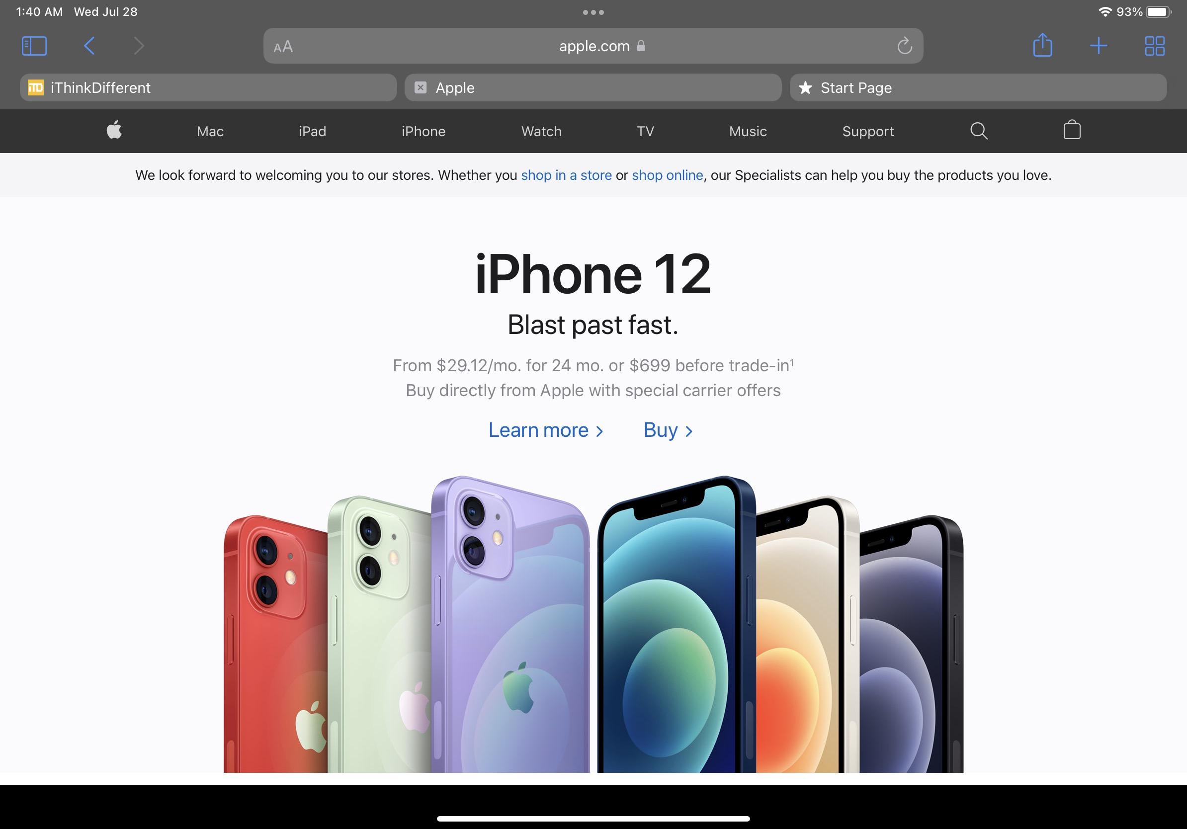 iPadOS 15 beta 4 Safari updates