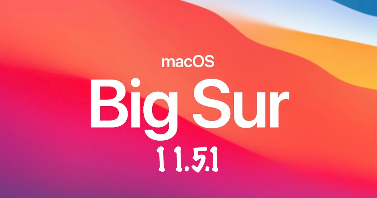 macOS 11.5.1
