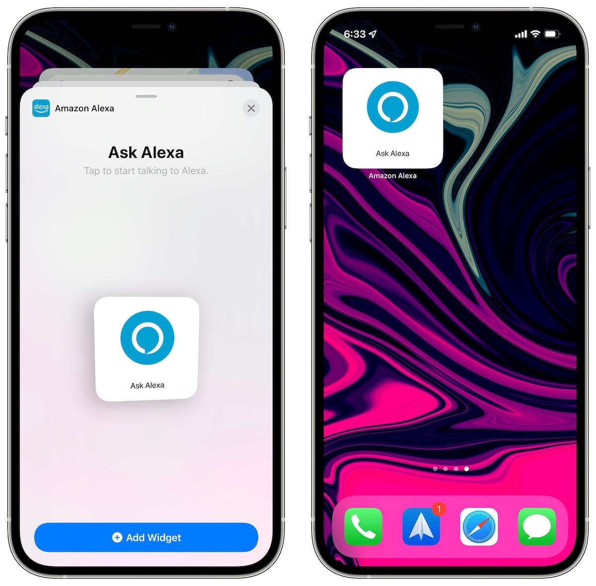Amazon Alexa iOS Widget