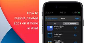 Learn how to restore deleted apps on iPhone or iPad