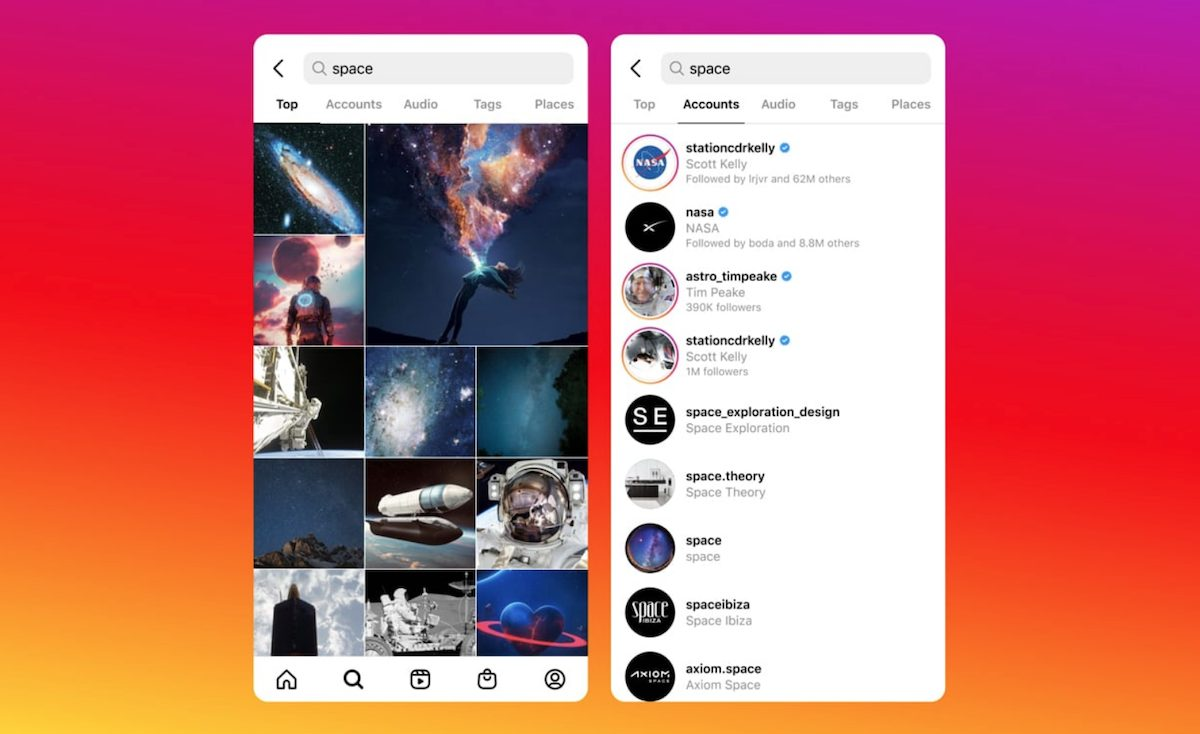 Instagram search