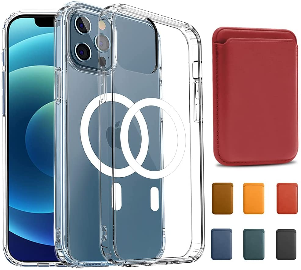 KIKET Magnetic Clear Case for iPhone 12 with Wallet bundle