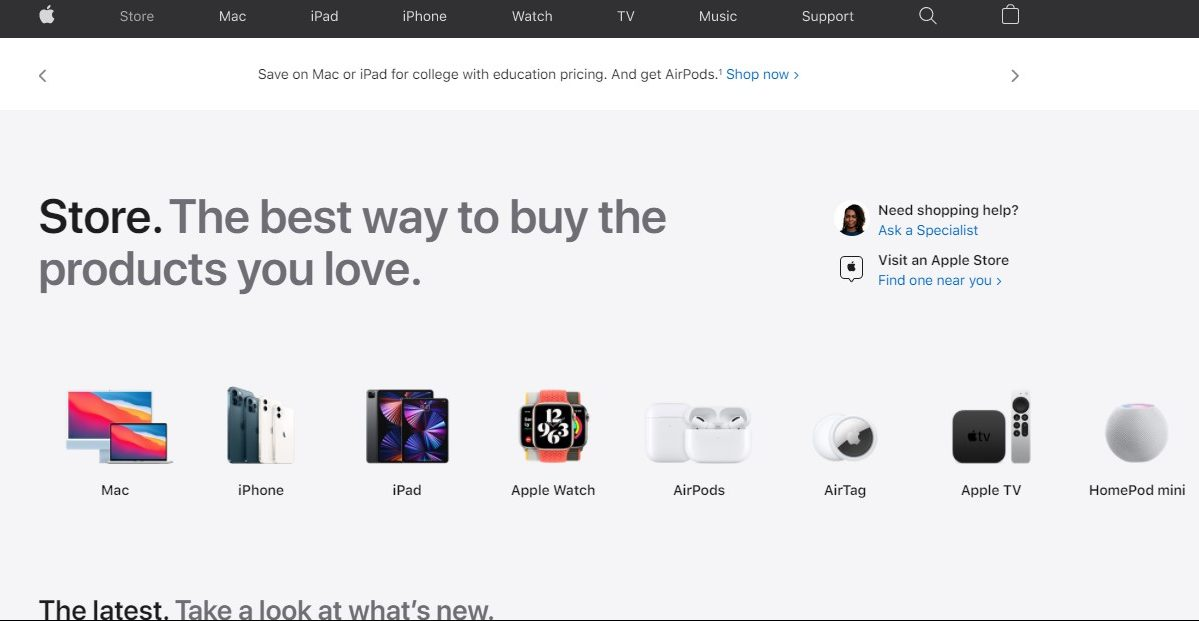Apple launches redesigned online store with dedicated 'Store' tab