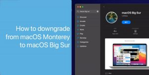 downgrade macOS Monterey to macOS Big Sur