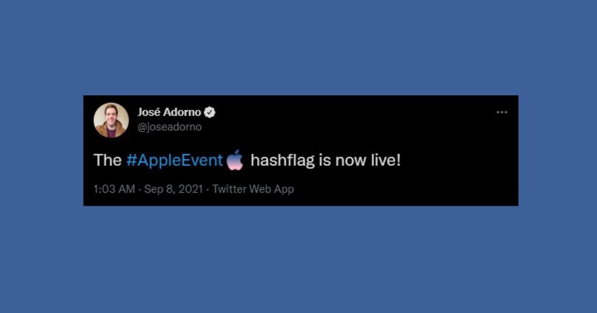 #AppleEvent hashflag