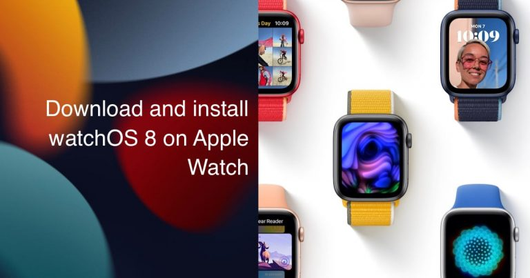 Download and install watchOS 8 on Apple Watch