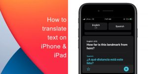 How to translate text on iPhone and iPad