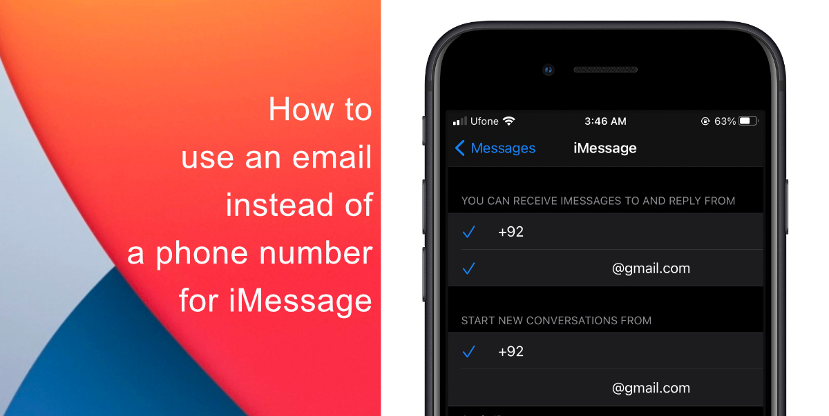 How to use an email instead of a phone number for iMessage