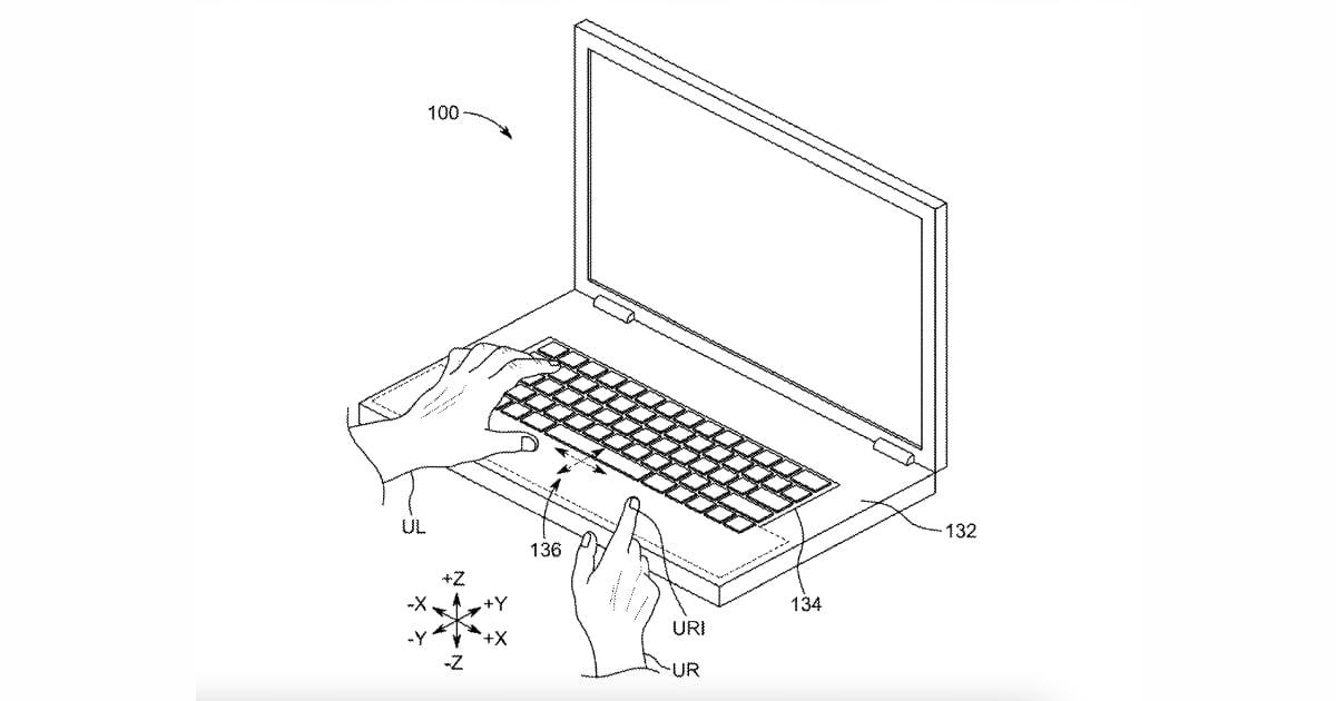 MacBook pro trackpad patent