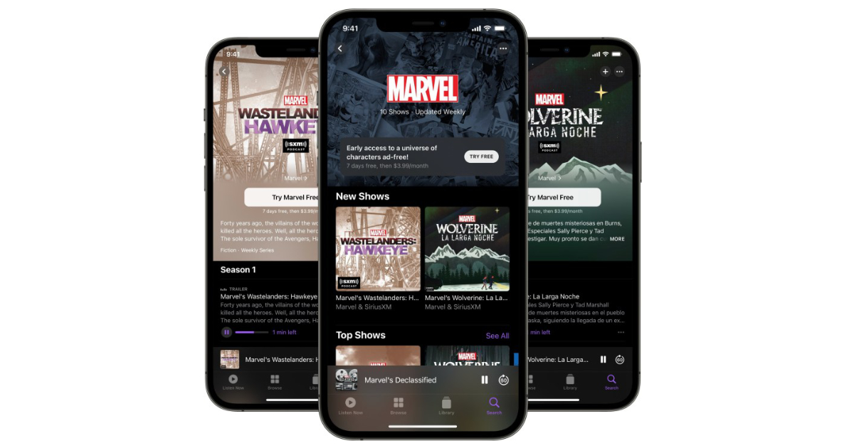 Exclusive Marvel shows now available through Apple Podcast subscriptions for $3.99 per month