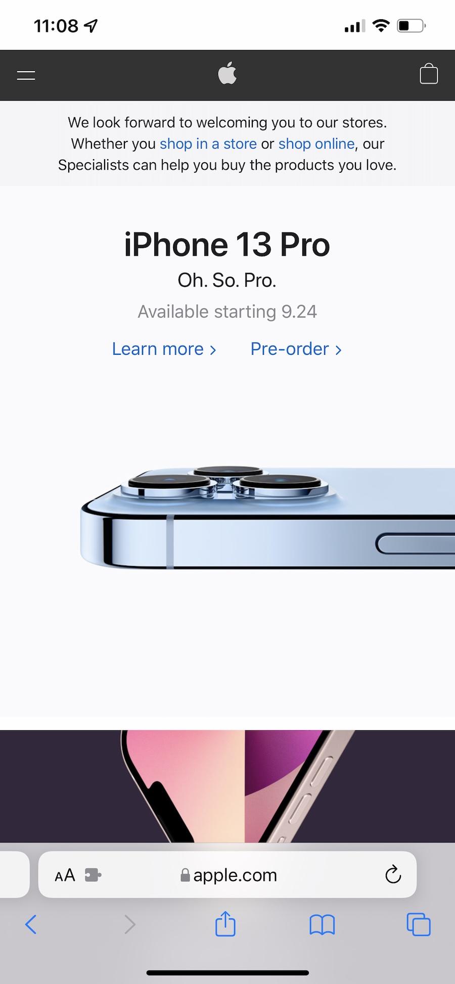 iOS 15 Safari address bar bottom