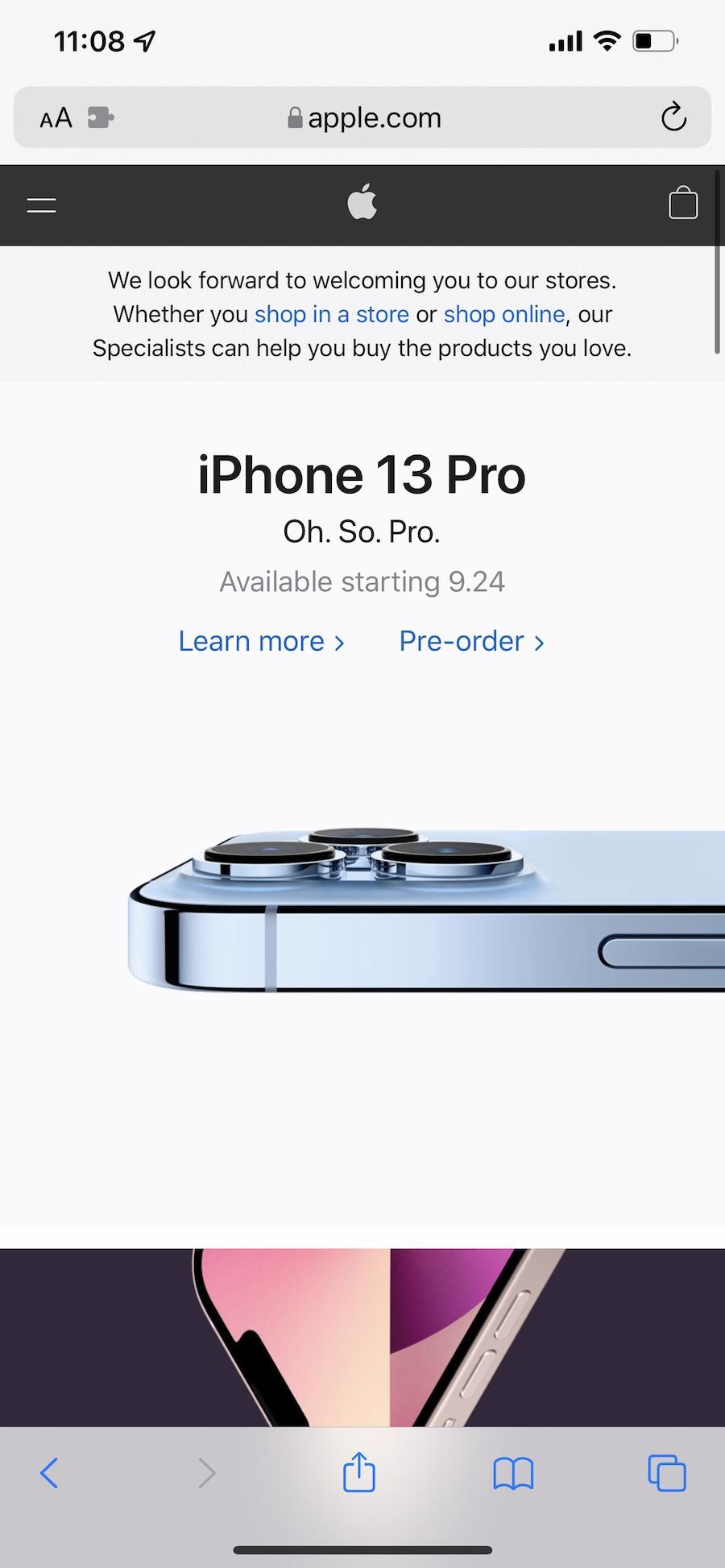 iOS 15 Safari address bar top