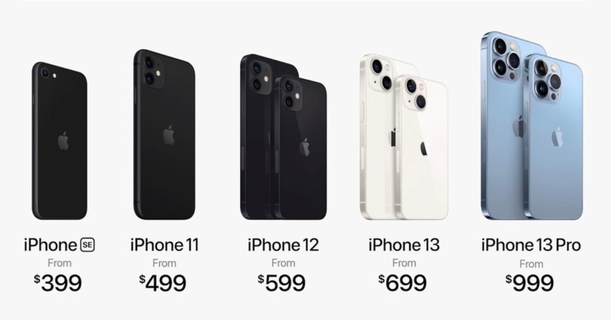2021 iPhone lineup