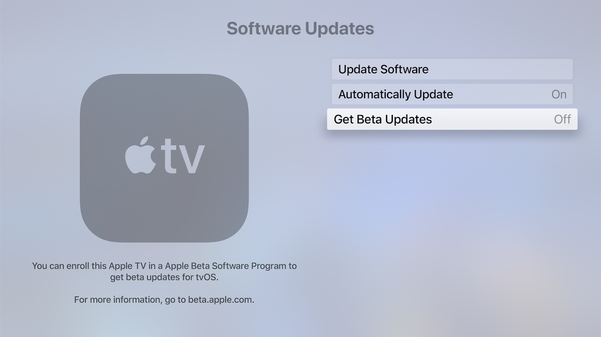 install tvOS 15.1 beta public