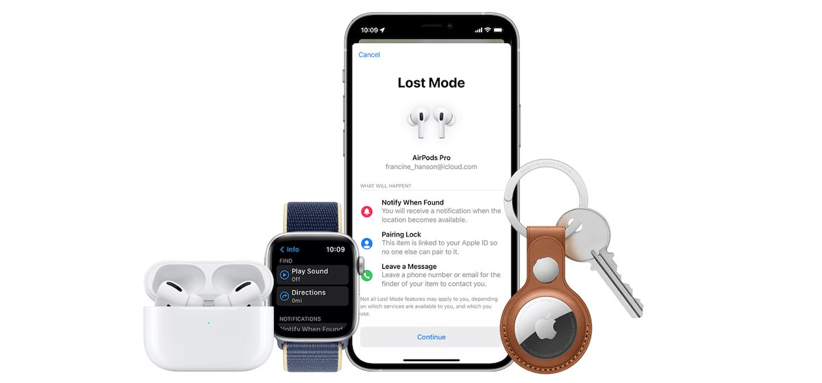 AirPods Pro - Find My app