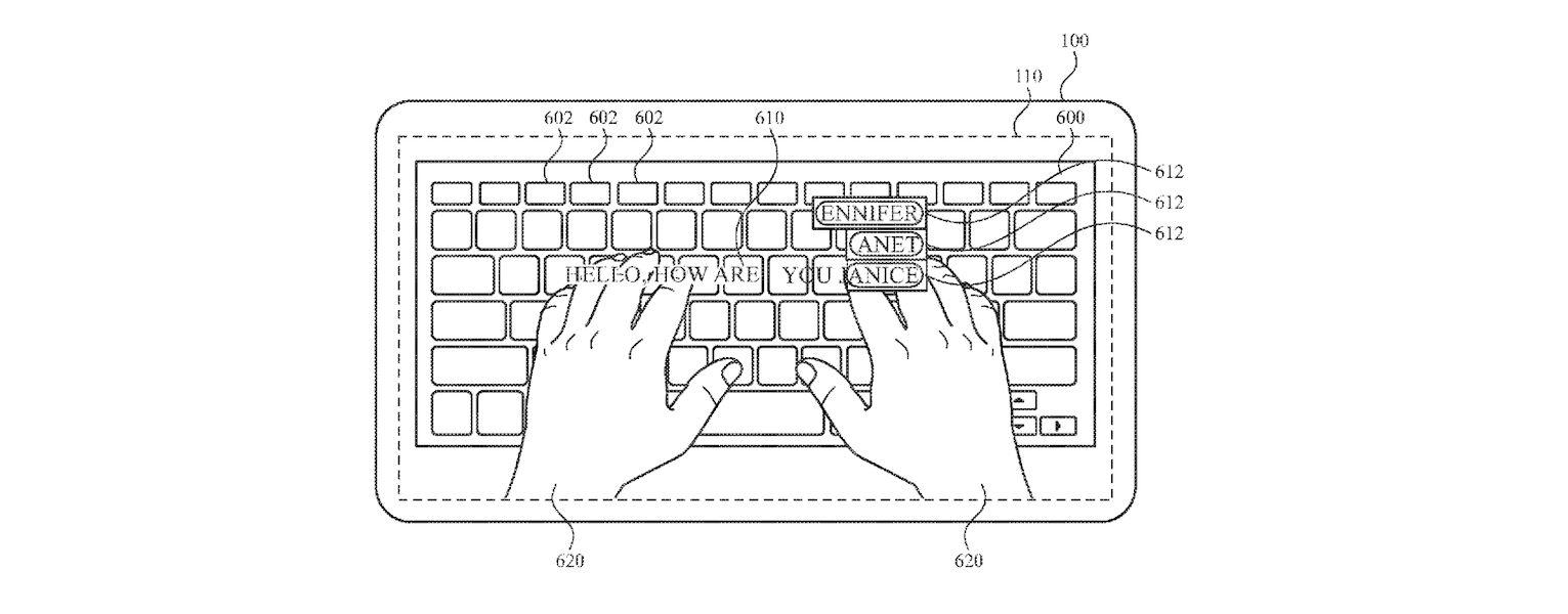 Apple Glass- keyboard