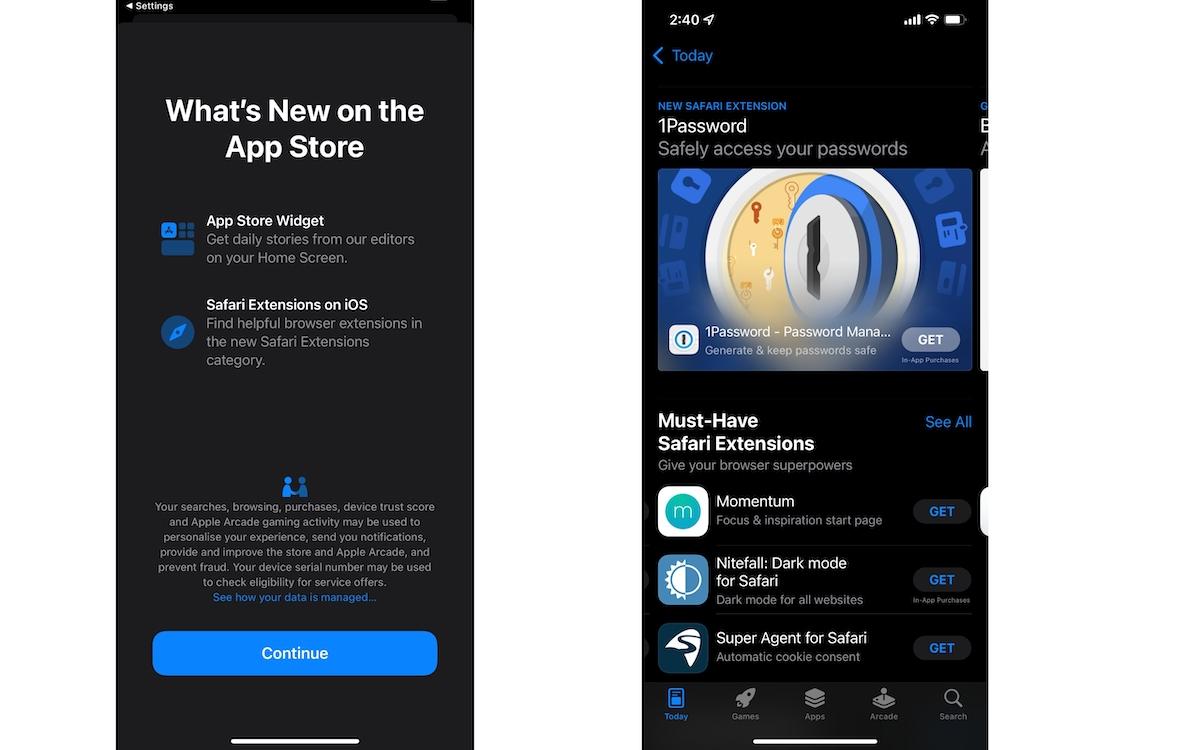 Safari Extension app store
