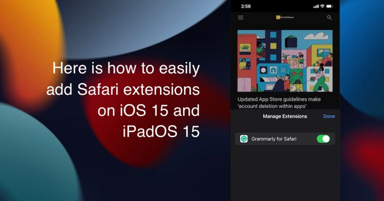 add Safari extensions on iOS 15 and iPadOS 15