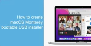 macOS Monterey bootable USB installer